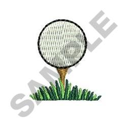 GOLFBALL W/ GRASS embroidery design