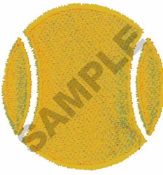 TENNIS BALL embroidery design