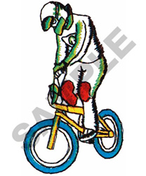 BIKE RACER embroidery design