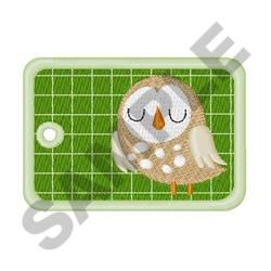 OWL GIFT TAG embroidery design