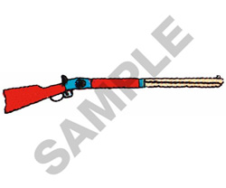 RIFLE embroidery design