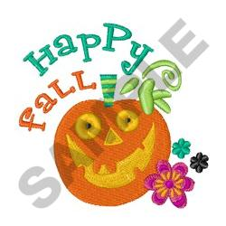 HAPPY FALL PUMPKIN embroidery design
