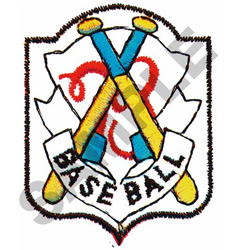 BASEBALL CREST embroidery design