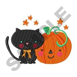 PUMPKIN AND CAT embroidery design
