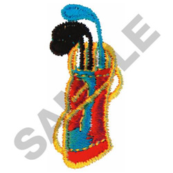 GOLF EQUIPTMENT embroidery design
