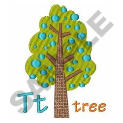 T FOR TREE embroidery design