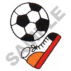 SOCCER KICK embroidery design