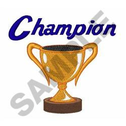 TROPHY CUP CHAMPION Embroidery Design