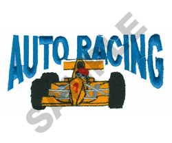 AUTO RACING embroidery design