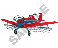 CROP DUSTER embroidery design
