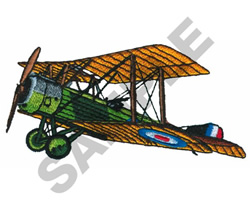 SOPWITH AIRPLANE embroidery design