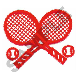 TENNIS RACQUETS W/ BALLS embroidery design