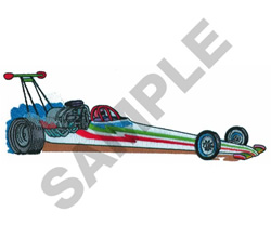 DRAGSTER embroidery design