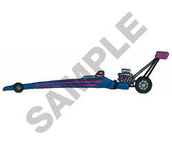 TOP FUEL DRAGSTER embroidery design