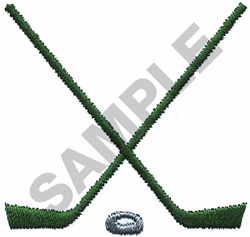 HOCKEY STICKS embroidery design