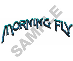 MORNING FLY embroidery design