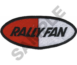 RALLYFAN embroidery design