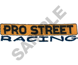 PRO STREET RACING embroidery design