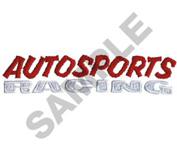 AUTOSPORTS RACING embroidery design