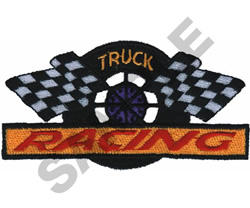TRUCK RACING embroidery design