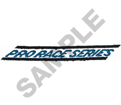 PRO RACE SERIES embroidery design