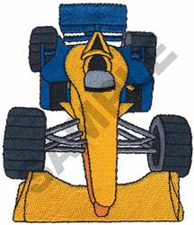 RACE CAR  9 embroidery design