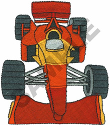 RACE CAR  10 embroidery design