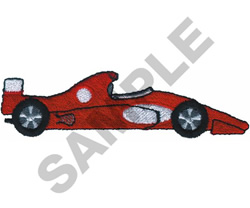 RACE CAR  16 embroidery design