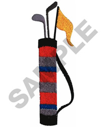GOLF BAG embroidery design