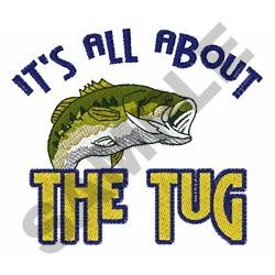 ALL ABOUT THE TUG embroidery design