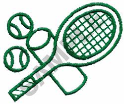 TENNIS RACKETS & BALLS embroidery design