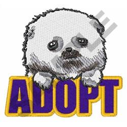 ADOPT A PET embroidery design