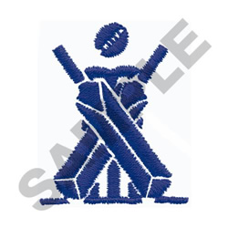 SYMBOL FOR CRICKET embroidery design