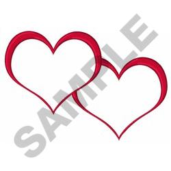 OPEN JOINED HEARTS embroidery design