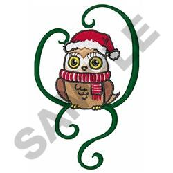 HOLIDAY OWL embroidery design