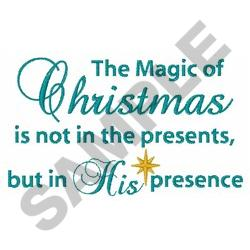 THE MAGIC OF CHRISTMAS embroidery design