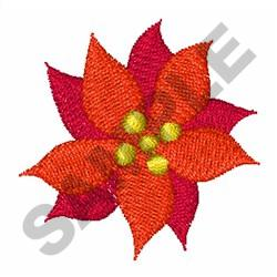 MINI POINSETTIA embroidery design