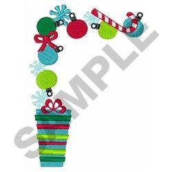 CHRISTMAS CORNER BORDER embroidery design