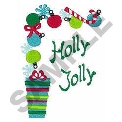 HOLLY JOLLY CORNER embroidery design