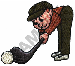 ANIMATED GOLFER embroidery design