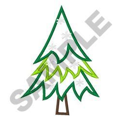 APPLIQUE PINE TREE embroidery design