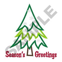 SEASONS GREETINGS APPLIQUE embroidery design