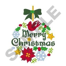 CHRISTMAS ORNAMENT LARGER embroidery design