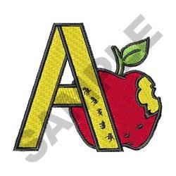 A APPLE embroidery design