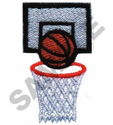 BASKETBALL & HOOP embroidery design