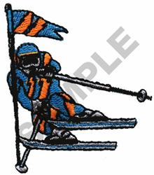 SLALOM SKIER embroidery design