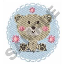 BABY BEAR MEDLLION embroidery design