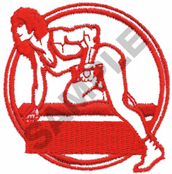 FEMALE BODY BUILDER embroidery design