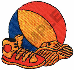 BASKETBALL & SNEAKERS embroidery design