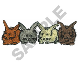 BUNNIES embroidery design